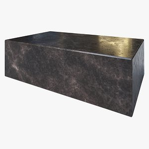 3D Marble Block Coffee Table model