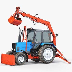 Excavator Tractor MTZ 3D model
