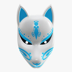 japanese mask fox 3D model