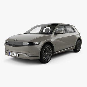 Hyundai Ioniq 5 with HQ interior 2022 3D model