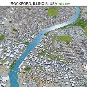 Rockford Illinois USA 3D model