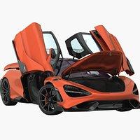 McLaren 765LT 2022 Opening Doors and trunk