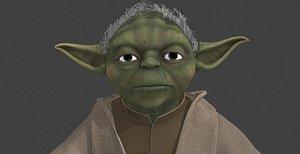 3D yoda starwars -