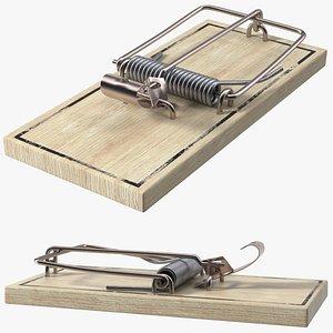 Metal Pedal Mouse Trap 3D model