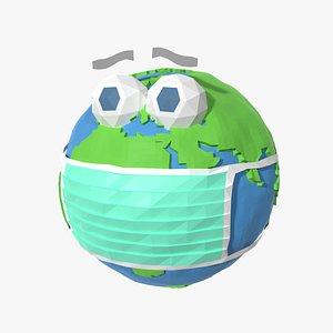 cartoon toon pandemic 3D model