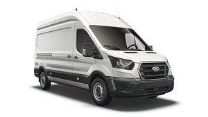 3D model Ford Transit Van L3H3 Leader 2021