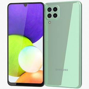 Samsung Galaxy A22 4G Mint 3D model