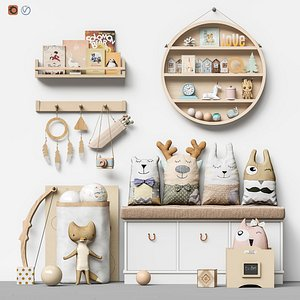 Toys and furniture set 99 3D model