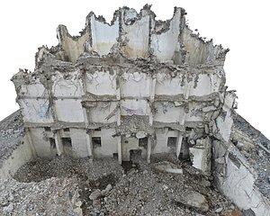 3D Abandoned  Destroyed Building 2