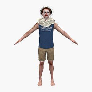 clown man male 3D