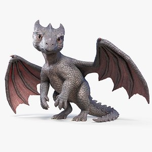 3D dragon baby character