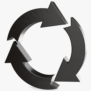 3D circular arrows symbol