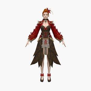 3D woman warrior model
