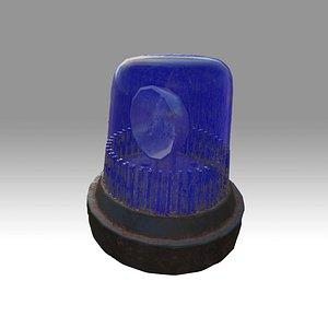 Old Police Light 3D model