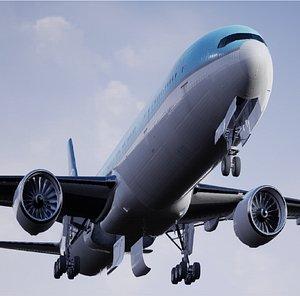 passenger jet airplane airline 3D model