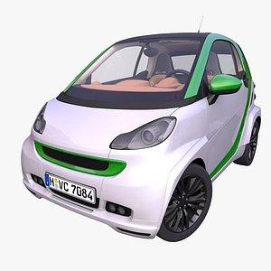 generic small hatchback interior car 3D model