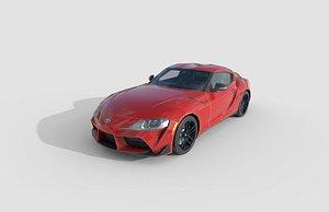 3D Low Poly Car - Toyota Supra 2020 model
