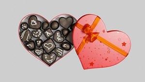 3D candy chocolate box
