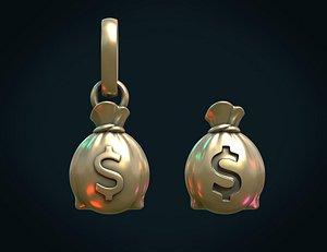 bag money dollar 3D model