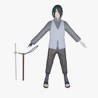 Sasuke Uchiha 3d model - Naruto, Boruto