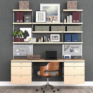 3D model Office workplace N3