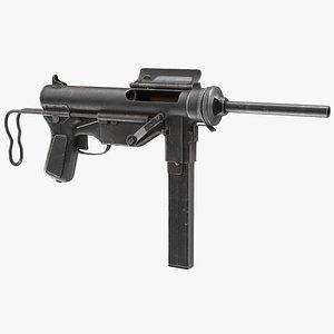 3D M3 Grease Gun 45 Caliber WW2 SMG