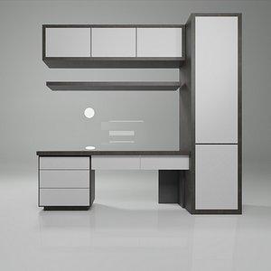 3D model Study Desk