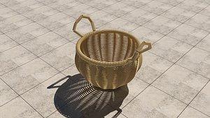 3D Rattan Basket model