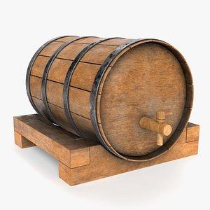 barrel apple cider 3D model