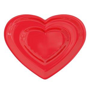 saucer heart red 3D