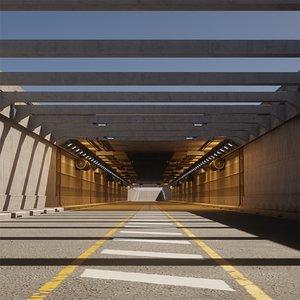 3D road tunnel modular