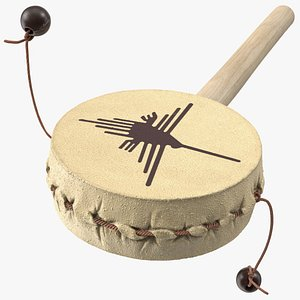 vintage pellet drum folk 3D model