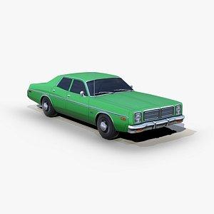 3D dodge monaco 1977 model