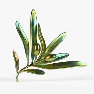 olive print modeled model