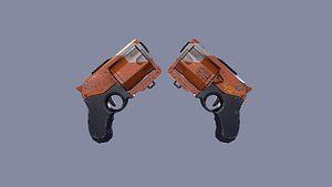 Revolver sci-fi game ready pbr Low-poly model 3D