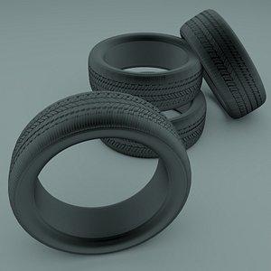 3D Car tire