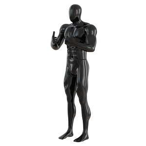 3D male abstract mannequin showing model