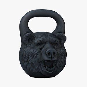 3D kettlebell bear model