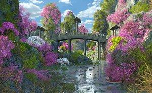 Fantasy Japanese Forest River model