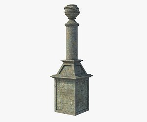 Fantasy Ancient Pillar 3D