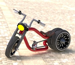 3D model wheel bicycle