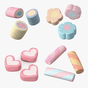 Shaped Marshmallows Collection 2 3D model