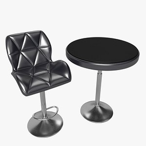 chair table bar 3D