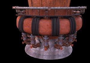 3D Blast Furnace C4D Vray 5