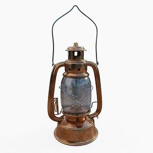 3D Oil Lantern Lamp 01