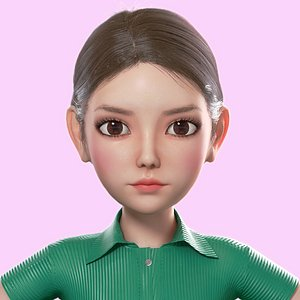 3D Cartoon Girl model