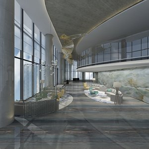 3D Hotel Lounge Set