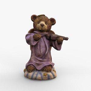 3D bear violin