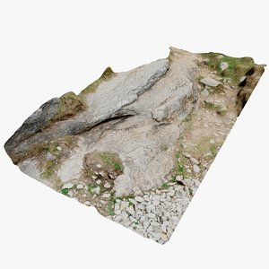 3D rock path scan model