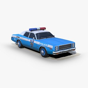 3D model plymouth fury 1978 police